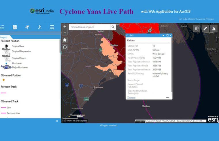 Esri cyclone Yass live path