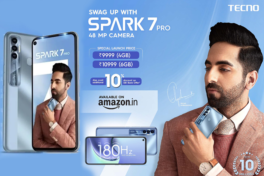 Tecno Spark 7 Pro now available for sale on Amazon
