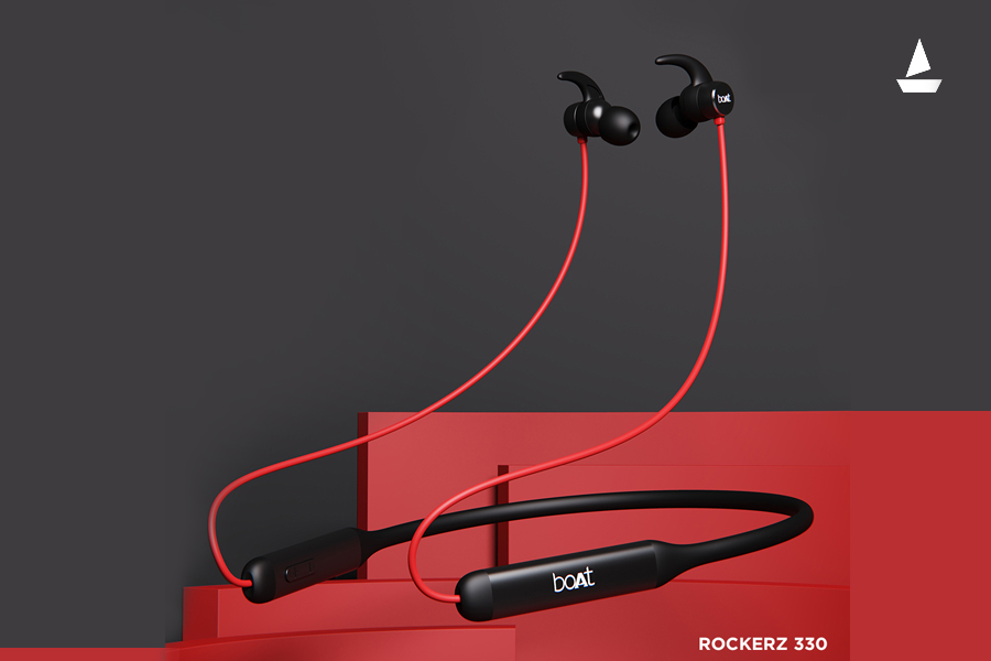 boAt Rockerz 330, a neckband earphone with mammoth battery life launched for Rs 1,299
