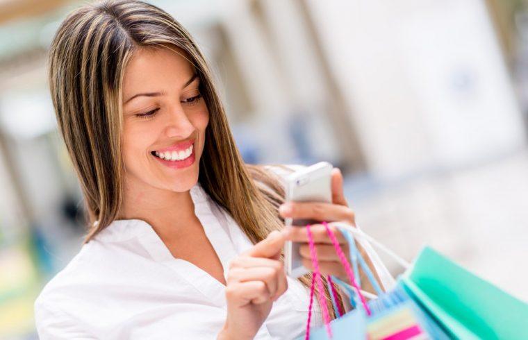 girl using apps