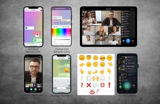 Telegram group video calls, screen sharing