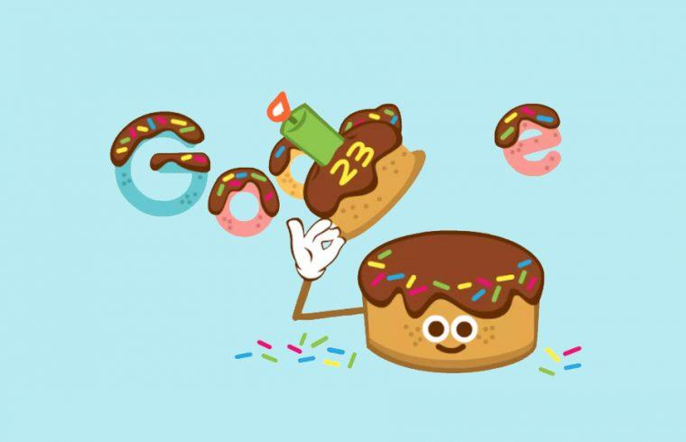 Google celebrates its 23rd birthday