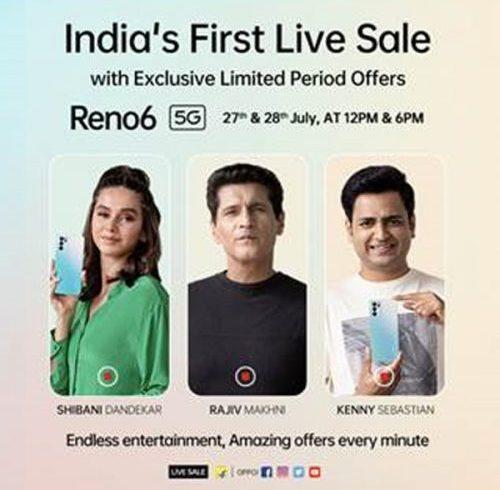 Oppo Reno 6 live sale