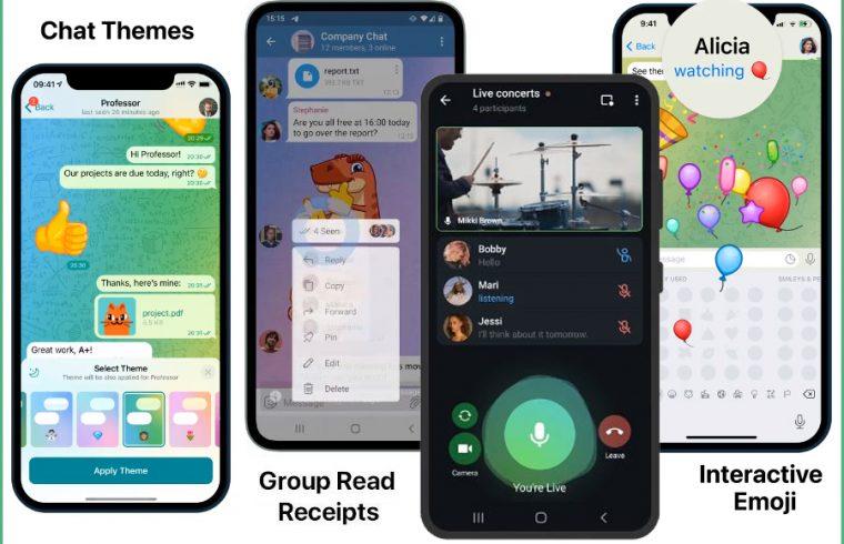 Telegram Emoji and new chat themes