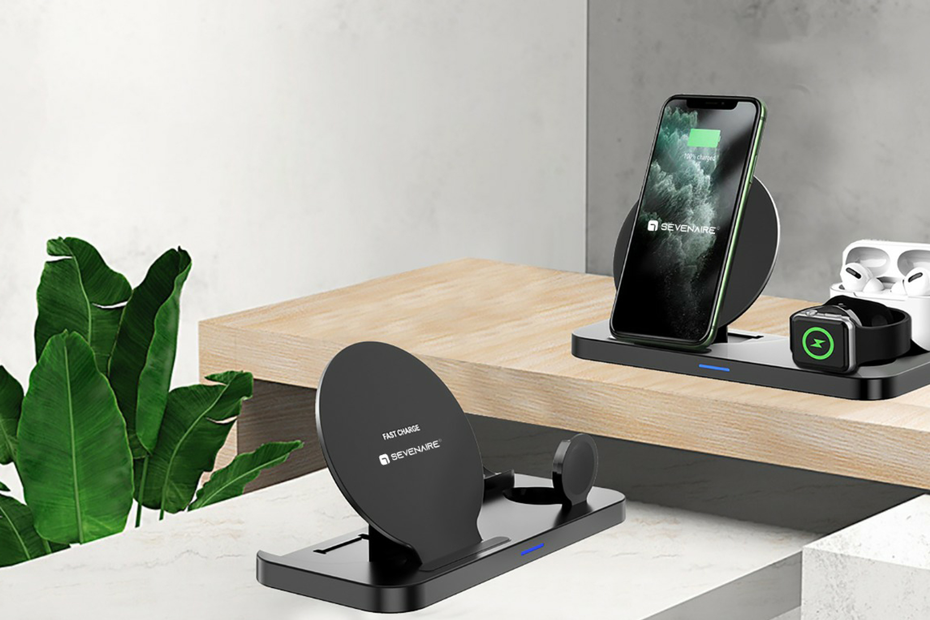 Sevenaire launches a foldable 3-in-1 wireless charging dock D1700 for iPhone, Apple Watch and AirPods