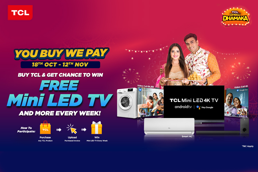 TCL lights up the festival month with 'TCL Diwali Dhamaka' offerings