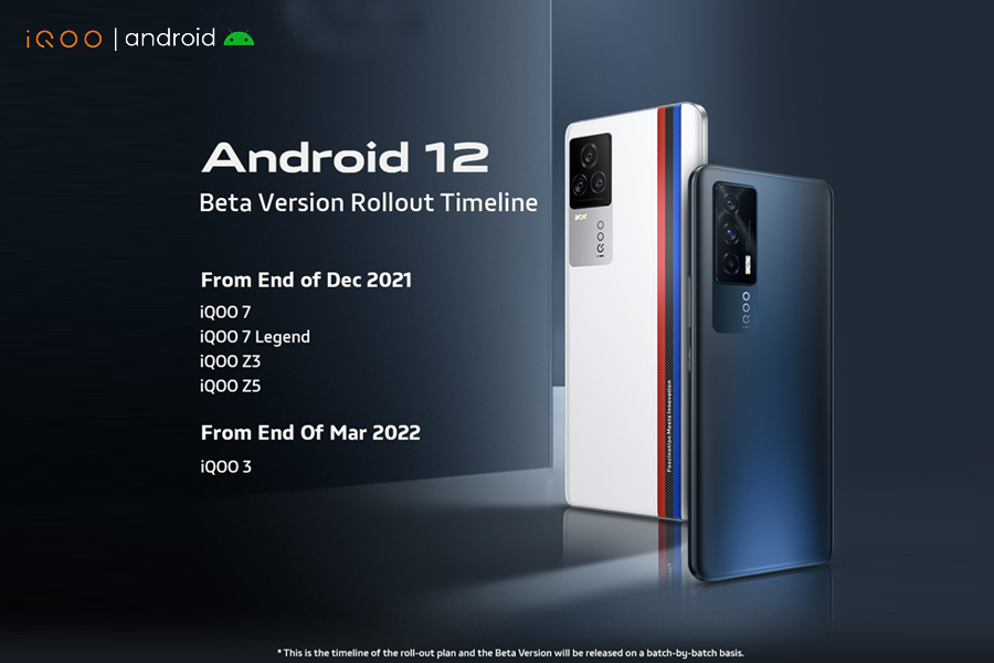 iQOO announces Android 12 Beta rollout